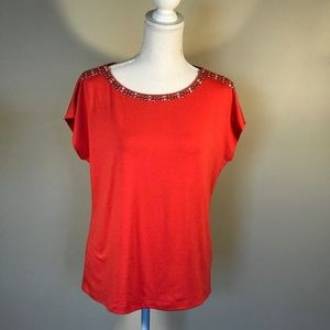 Ruby Rd orange top sz PM